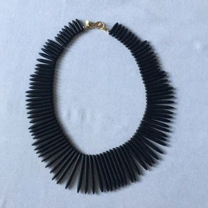 Kenneth Lane Black Resin Spike Statement Necklace